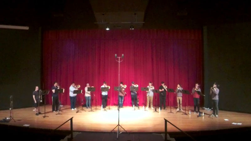 OSU Trombone Ensemble Performing Bonelab by Kevin Hauben