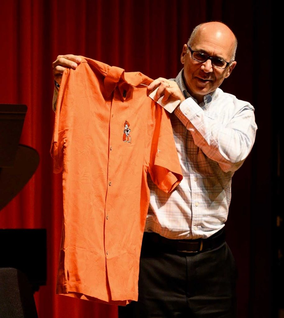 Joseph Alessi Receives OSU Shirt
